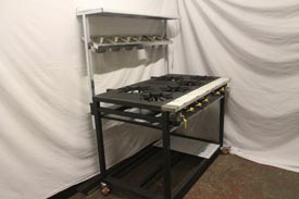 6 Burner Cooker with Solid Plate